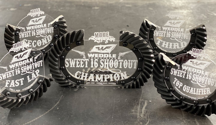 Weddle Sweet 16 Shootout Trophies